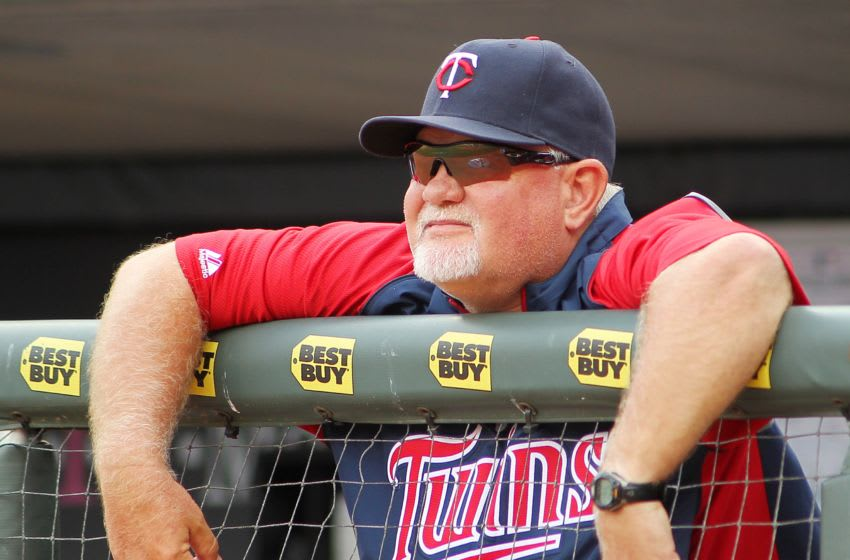 MINNEAPOLIS, MN - SEPTEMBER 8: Manager Ron Gardenhire of the Minnesota Twins looks on in the 8th inning against the Toronto Blue Jays during their baseball game on September 8, 2013 at Target Field in Minneapolis, Minnesota. (Photo by Andy Clayton-King/Getty Images)