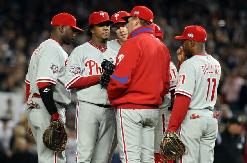 NEW YORK - NOVEMBER 04: Pitching coach Rich Dubee