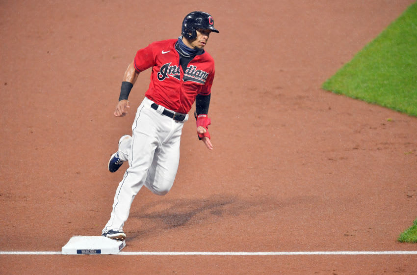 Cesar Hernandez #7 of the Cleveland Indians (Photo by Jason Miller/Getty Images)