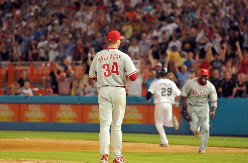 Roy Halladay of the Philadelphia Phillies (Photo by Robert Vigon/Florida Marlins/MLB Photos via Getty Images)