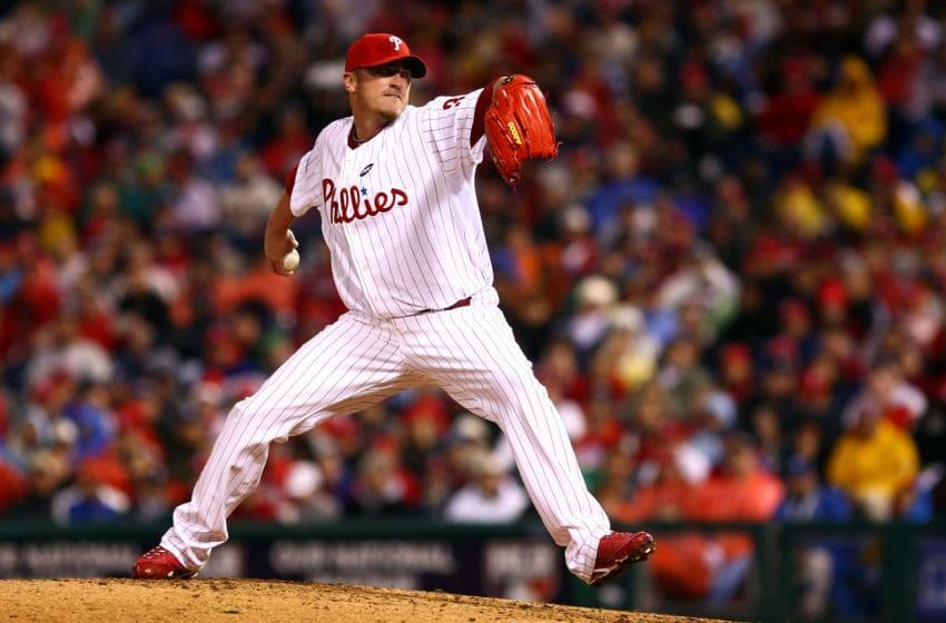 Brett Myers #39 of the Philadelphia Phillies (Photo by Chris McGrath/Getty Images)