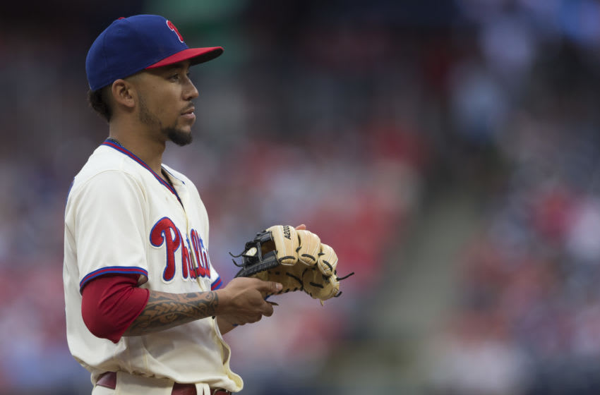 J.P. Crawford. Philadelphia Phillies (Photo by Mitchell Leff/Getty Images)