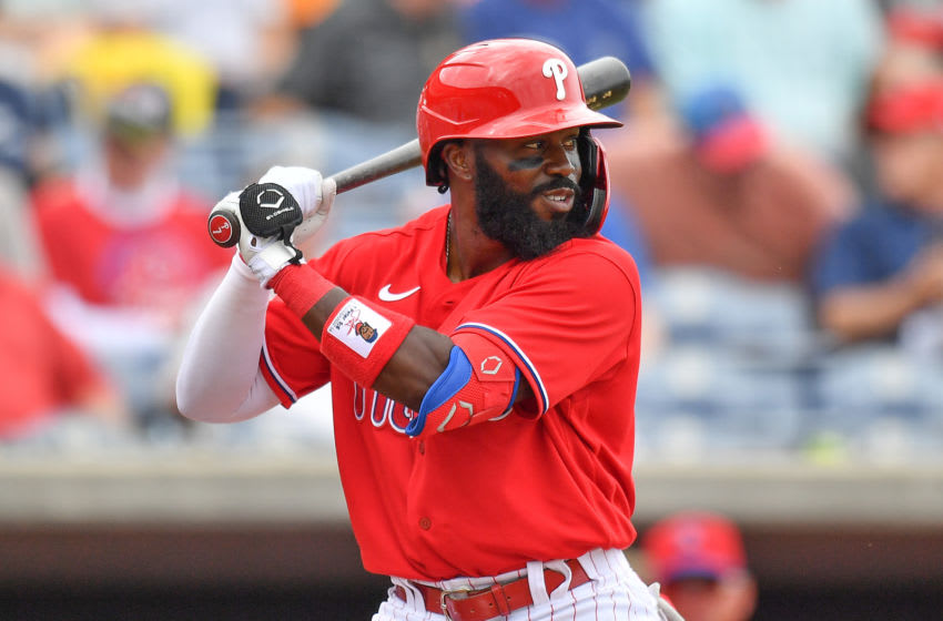 Josh Harrison #7 of the Philadelphia Phillies (Photo by Mark Brown/Getty Images)