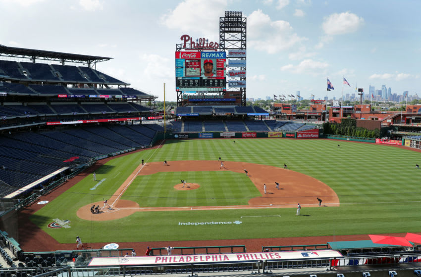 A general view of the field at Citizens Bank Park. (Photo by Hunter Martin/Getty Images)