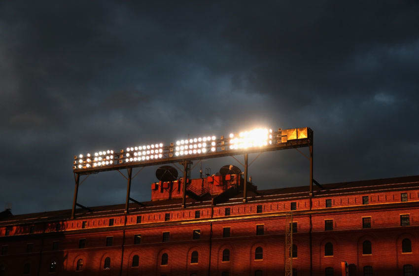 BALTIMORE, MD - MAY 14: The Baltimore & Ohio Warehouse at Camden Yards is shown during the fourth inning of the Baltimore Orioles and Detroit Tigers game at Oriole Park on May 14, 2016 in Baltimore, Maryland. (Photo by Rob Carr/Getty Images)