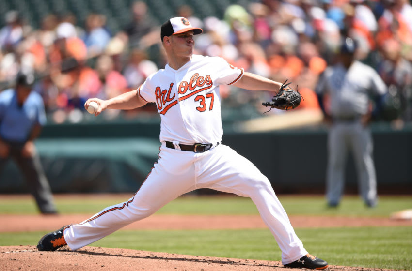 BALTIMORE, MD - JULY 29: Dylan Bundy #37 of the Baltimore Orioles pitches in the second inning during a baseball game against the Tampa Bay Rays at Oriole Park at Camden Yards on July 29, 2018 in Baltimore, Maryland. (Photo by Mitchell Layton/Getty Images)