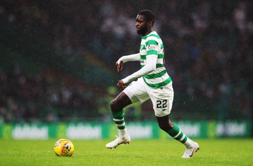GLASGOW, SCOTLAND - DECEMBER 08: Odsonne Edouard of Celtic controls the ball during the Scottish Ladbrokes Premiership match between Celtic and Kilmarnock at Celtic Park Stadium on December 8, 2018 in Glasgow, Scotland. (Photo by Ian MacNicol/Getty Images)