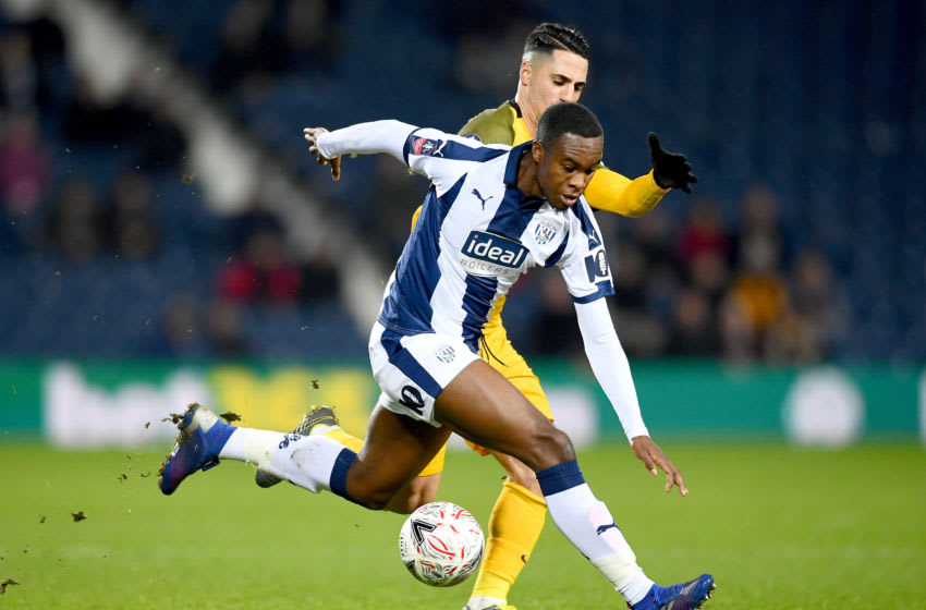 WEST BROMWICH, ENGLAND - FEBRUARY 06: Rekeem Harper of West Bromwich Albion controls the ball during the FA Cup Fourth Round Replay match between West Bromwich Albion and Brighton & Hove Albion at The Hawthorns on February 06, 2019 in West Bromwich, United Kingdom. (Photo by Clive Mason/Getty Images)