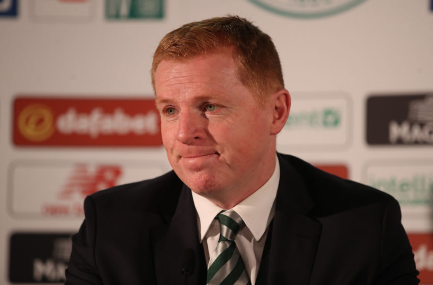 GLASGOW, SCOTLAND - FEBRUARY 27: Celtic's new interim manager Neil Lennon is unveiled at Celtic Park on February 27, 2019 in Glasgow, Scotland. (Photo by Ian MacNicol/Getty Images)