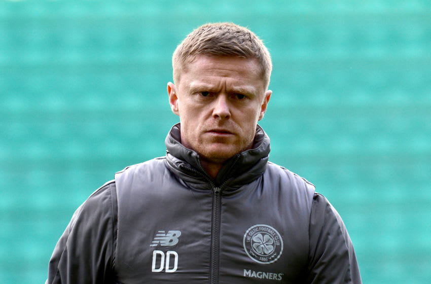 EDINBURGH, SCOTLAND - MARCH 02: Damien Duff, Celtic first team coach arrives at the stadium prior to the Scottish Cup quarter final match between Hibernian and Celtic at Easter Road on March 02, 2019 in Edinburgh, Scotland. (Photo by Mark Runnacles/Getty Images)