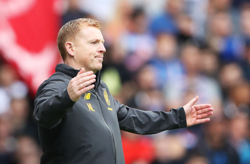 GLASGOW, SCOTLAND - SEPTEMBER 01: Neil Lennon, Manager of Celtic reacts during the Ladbrokes Premiership match between Rangers and Celtic at Ibrox Stadium on September 01, 2019 in Glasgow, Scotland. (Photo by Ian MacNicol/Getty Images)