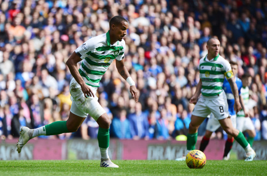 GLASGOW, SCOTLAND - SEPTEMBER 01: Christopher Jullien of Celtic runs with the ball during the Ladbrokes Premiership match between Rangers and Celtic at Ibrox Stadium on September 01, 2019 in Glasgow, Scotland. (Photo by Mark Runnacles/Getty Images)