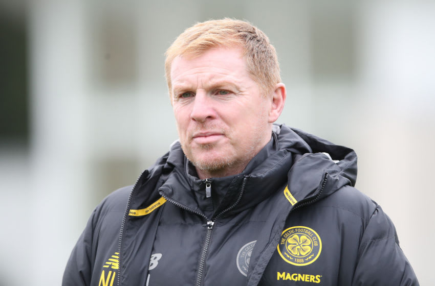 GLASGOW, SCOTLAND - OCTOBER 23: Celtic Manager Neil Lennon is seen during a training session at Lennoxtown Training Session on October 23, 2019 in Glasgow, Scotland. (Photo by Ian MacNicol/Getty Images)