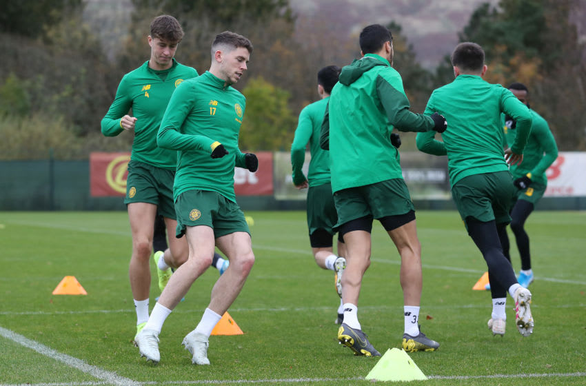 GLASGOW, SCOTLAND - OCTOBER 23: Ryan Christie of Celtic is seen during a training session at Lennoxtown Training Session on October 23, 2019 in Glasgow, Scotland. (Photo by Ian MacNicol/Getty Images)