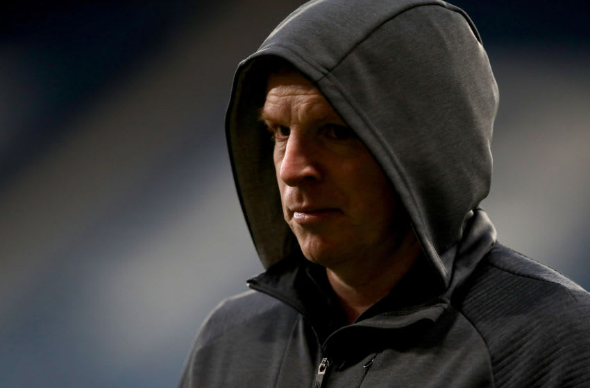 GLASGOW, SCOTLAND - NOVEMBER 02: Neil Lennon, Manager of Celtic arrives prior to the Betfred Cup Semi-Final match between Hibernan and Celtic at Hampden Park on November 02, 2019 in Glasgow, Scotland. (Photo by Ian MacNicol/Getty Images)