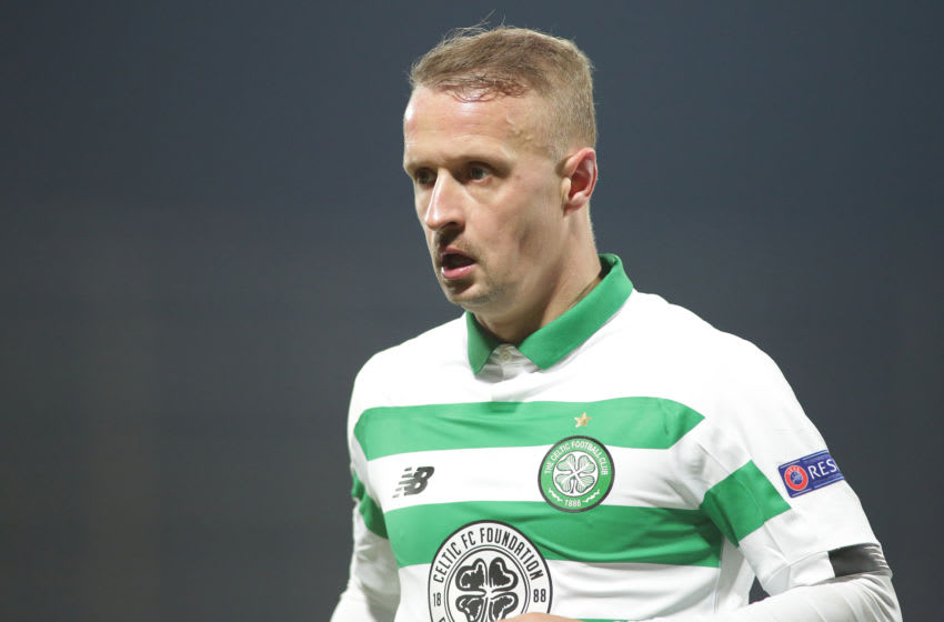 CLUJ-NAPOCA, ROMANIA - DECEMBER 12: Celtics Leigh Griffiths during the UEFA Europa League group E match between CFR Cluj and Celtic FC at Dr.-Constantin-Radulescu-Stadium on December 12, 2019 in Cluj-Napoca, Romania. (Photo by Paul Ursachi/MB Media/Getty Images)