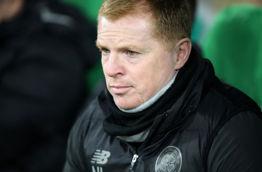GLASGOW, SCOTLAND - NOVEMBER 28: Neil Lennon, Manager of Celtic looks on during the UEFA Europa League group E match between Celtic FC and Stade Rennes at Celtic Park on November 28, 2019 in Glasgow, United Kingdom. (Photo by Ian MacNicol/Getty Images)
