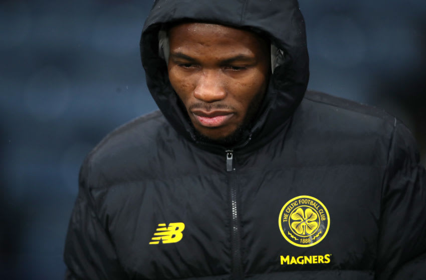 GLASGOW, SCOTLAND - DECEMBER 08: Boli Bolingoli of Celtic looks on prior to the Betfred Cup Final between Rangers FC and Celtic FC at Hampden Park on December 08, 2019 in Glasgow, Scotland. (Photo by Ian MacNicol/Getty Images)