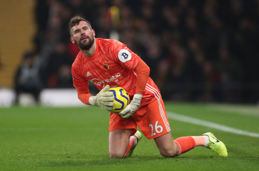 WATFORD, ENGLAND - DECEMBER 28: Ben Foster of Watford during the Premier League match between Watford FC and Aston Villa at Vicarage Road on December 28, 2019 in Watford, United Kingdom. (Photo by Alex Morton/Getty Images)