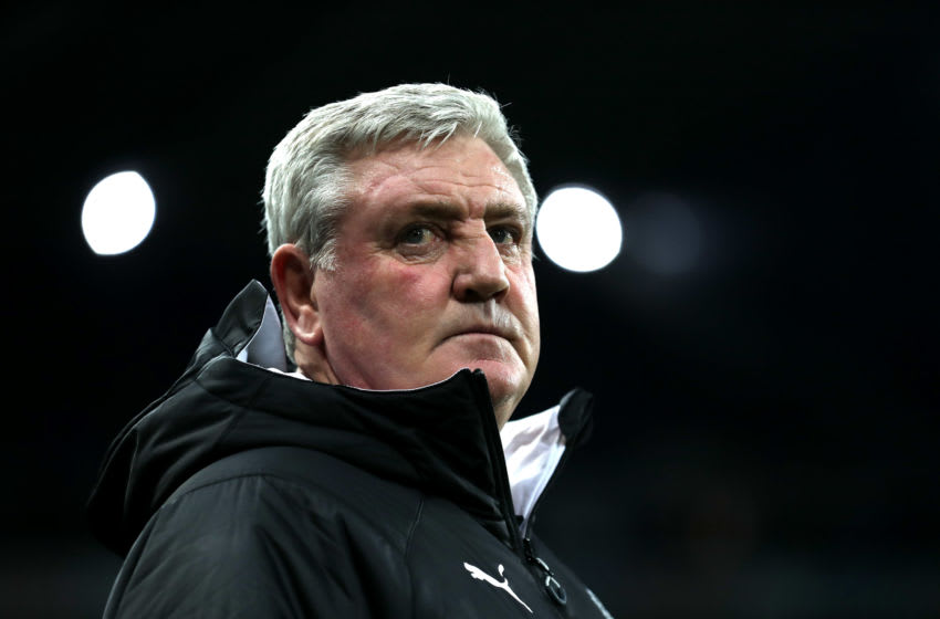 NEWCASTLE UPON TYNE, ENGLAND - JANUARY 14: Steve Bruce, Manager of Newcastle United looks on during the FA Cup Third Round Replay match between Newcastle United and Rochdale at St. James Park on January 14, 2020 in Newcastle upon Tyne, England. (Photo by Ian MacNicol/Getty Images)