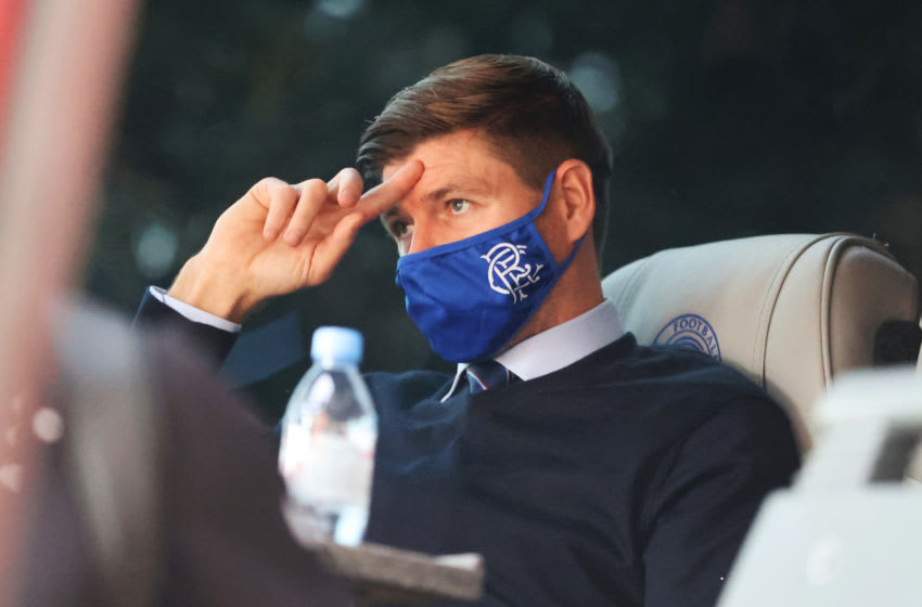 Steven Gerrard, Manager of Rangers FC. (Photo by Willie Vass/Pool via Getty Images)