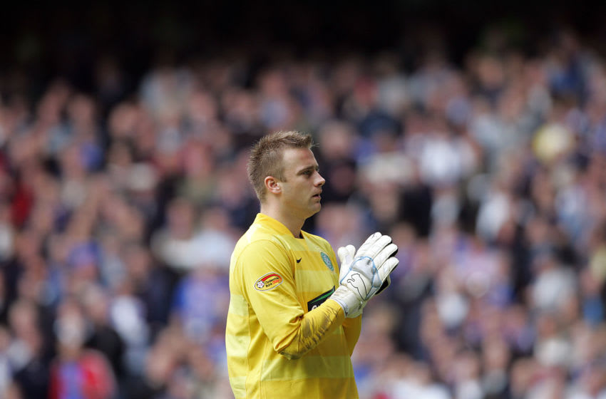 GLASGOW, UNITED KINGDOM - OCTOBER 20: Artur Boruc of Celtic is seen during the Scottish Premier League match between Rangers and Celtic at Ibrox Stadium on October 20 2007 in Glasgow, Scotland. (Photo by Ian MacNicol/Getty Images)
