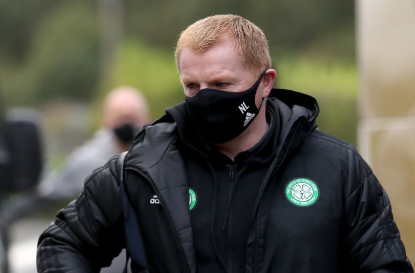 PAISLEY, SCOTLAND - SEPTEMBER 16: Neil Lennon, Manager of Celtic arrives at the stadium prior to the Ladbrokes Scottish Premiership match between St. Mirren and Celtic at The Simple Digital Arena on September 16, 2020 in Paisley, Scotland. (Photo by Ian MacNicol/Getty Images)