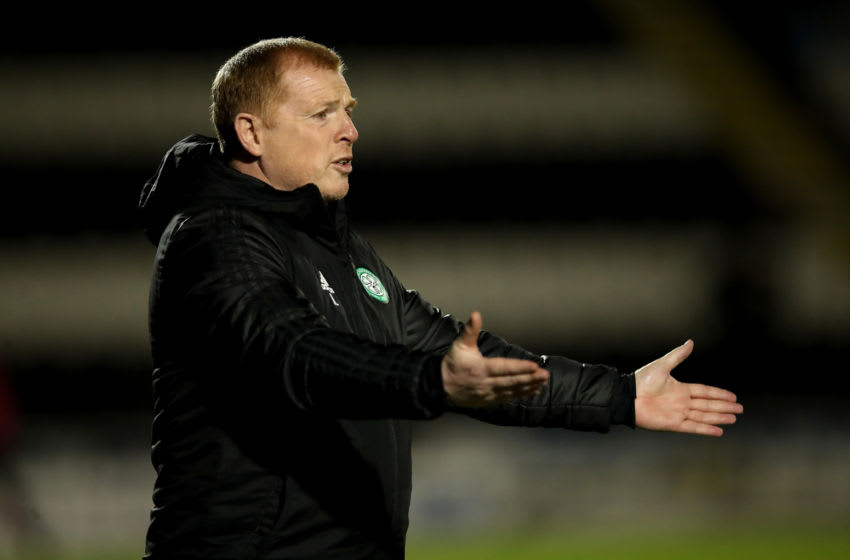 PAISLEY, SCOTLAND - SEPTEMBER 16: Neil Lennon, Manager of Celtic reacts during the Ladbrokes Scottish Premiership match between St. Mirren and Celtic at The Simple Digital Arena on September 16, 2020 in Paisley, Scotland. (Photo by Ian MacNicol/Getty Images)