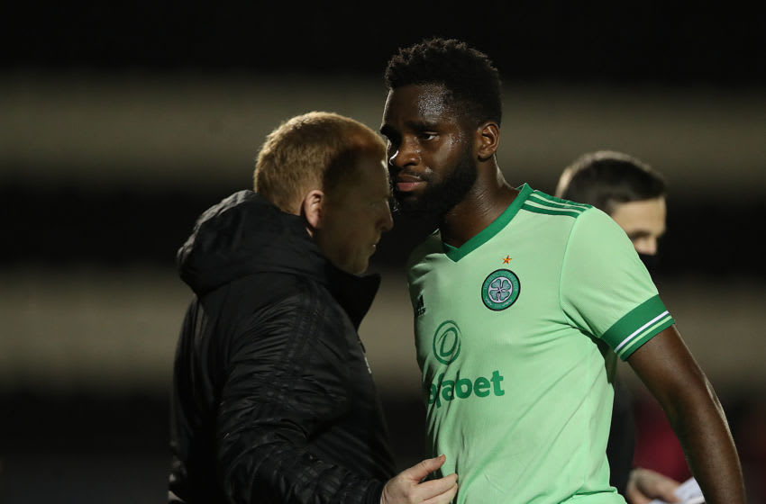 PAISLEY, SCOTLAND - SEPTEMBER 16: Odsonne Edouard of Celtic is seen as he is replaced during the Ladbrokes Scottish Premiership match between St. Mirren and Celtic at The Simple Digital Arena on September 16, 2020 in Paisley, Scotland. (Photo by Ian MacNicol/Getty Images)