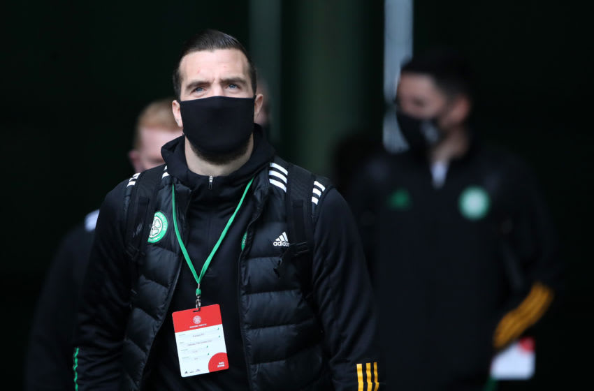 GLASGOW, SCOTLAND - OCTOBER 17: Shane Duffy of Celtic arrives at the stadium prior to the Ladbrokes Scottish Premiership match between Celtic and Rangers at Celtic Park on October 17, 2020 in Glasgow, Scotland. Sporting stadiums around the UK remain under strict restrictions due to the Coronavirus Pandemic as Government social distancing laws prohibit fans inside venues resulting in games being played behind closed doors. (Photo by Ian MacNicol/Getty Images)