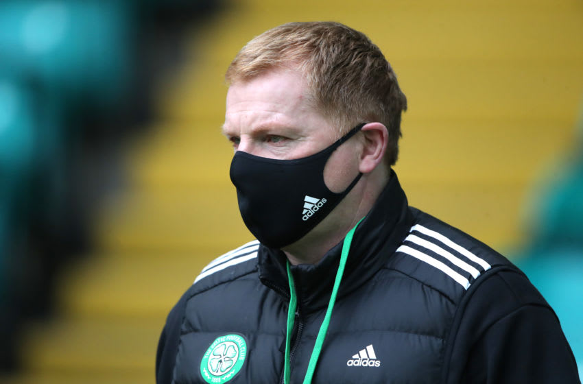 GLASGOW, SCOTLAND - OCTOBER 17: Neil Lennon, Manager of Celtic arrives at the stadium prior to the Ladbrokes Scottish Premiership match between Celtic and Rangers at Celtic Park on October 17, 2020 in Glasgow, Scotland. Sporting stadiums around the UK remain under strict restrictions due to the Coronavirus Pandemic as Government social distancing laws prohibit fans inside venues resulting in games being played behind closed doors. (Photo by Ian MacNicol/Getty Images)