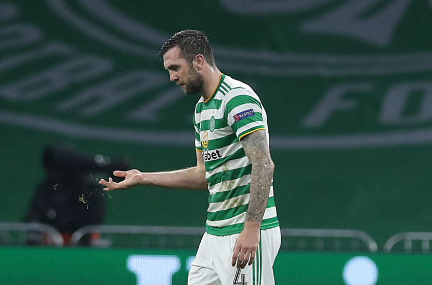 GLASGOW, SCOTLAND - NOVEMBER 05: Shane Duffy of Celtic is seen during the UEFA Europa League Group H stage match between Celtic and AC Sparta Praha at Celtic Park on November 05, 2020 in Glasgow, Scotland. Sporting stadiums around the UK remain under strict restrictions due to the Coronavirus Pandemic as Government social distancing laws prohibit fans inside venues resulting in games being played behind closed doors. (Photo by Ian MacNicol/Getty Images)