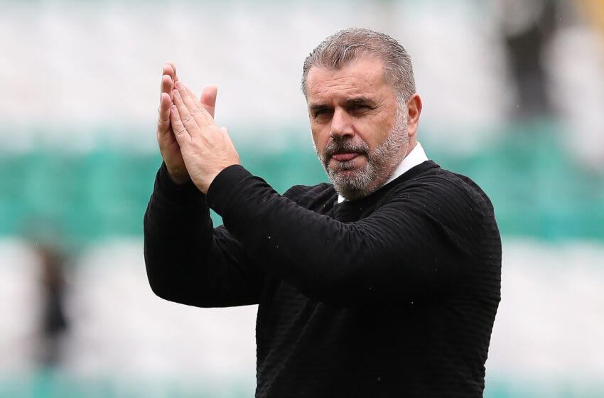 GLASGOW, SCOTLAND - AUGUST 21: Ange Postecoglou is seen at full time during the Cinch Scottish Premiership match between Celtic FC and St. Mirren FC at Celtic Park on August 21, 2021 in Glasgow, Scotland. (Photo by Ian MacNicol/Getty Images)