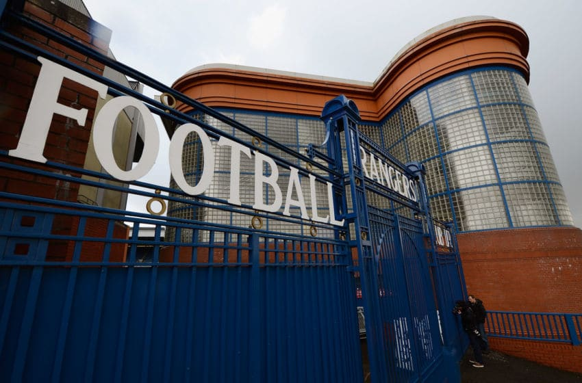 GLASGOW, SCOTLAND - APRIL 24: A general view of the gates at Ibrox Stadium home, to Glasgow Rangers Football Club on April 24, 2012 in Glasgow, Scotland. Rangers have received a 12 month transfer embargo and a GBP 160,000 fine from the Scottish FA, while current owner Craig Whyte as been banned for life from any involvement in Scottish Football. (Photo by Jeff J Mitchell/Getty Images)