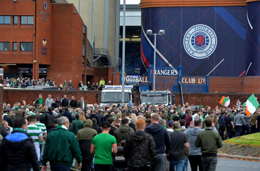 GLASGOW, SCOTLAND - SEPTEMBER 23: Celtic fans make their way to the stadium prior to the Ladbrokes Scottish Premiership match between Rangers and Celtic at Ibrox Stadium on September 23, 2017 in Glasgow, Scotland. (Photo by Mark Runnacles/Getty Images)