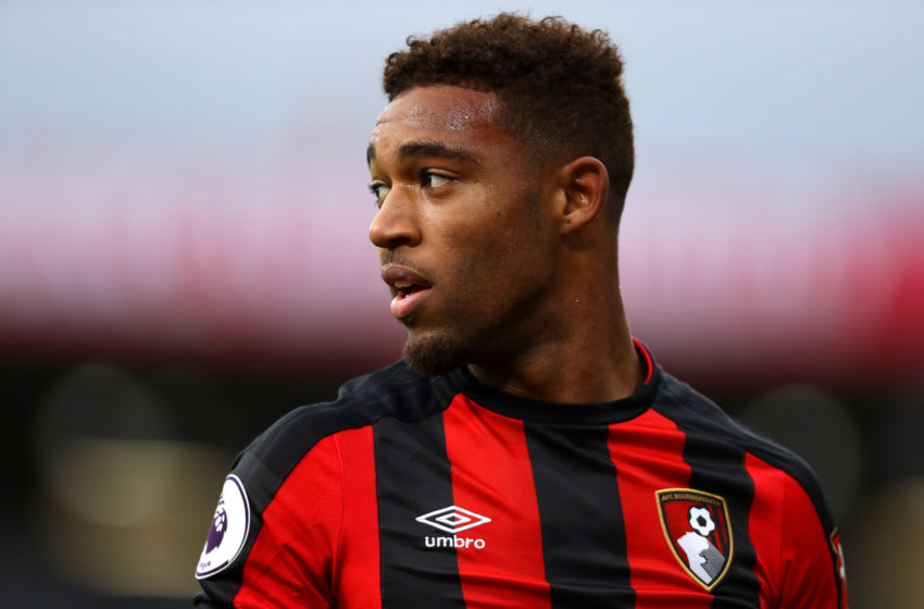 BOURNEMOUTH, ENGLAND - NOVEMBER 18: Jordon Ibe of Bournemouth looks on during the Premier League match between AFC Bournemouth and Huddersfield Town at Vitality Stadium on November 18, 2017 in Bournemouth, England. (Photo by Dan Istitene/Getty Images)