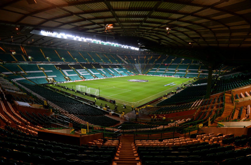 GLASGOW, SCOTLAND - FEBRUARY 15: A general view of Celtic Park ahead of the UEFA Europa League Round of 32 match between Celtic and Zenit St Petersburg at the Celtic Park on February 15, 2018 in Glasgow, United Kingdom. (Photo by Mark Runnacles/Getty Images)