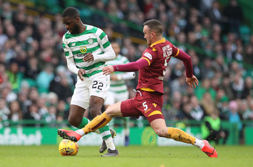 GLASGOW, SCOTLAND - FEBRUARY 24: Odsonne Edouard of Celtic is seen in action during the Ladbrokes Premiership match between Celtic and Motherwell at Celtic Park on February 24, 2019 in Glasgow, United Kingdom. (Photo by Ian MacNicol/Getty Images)