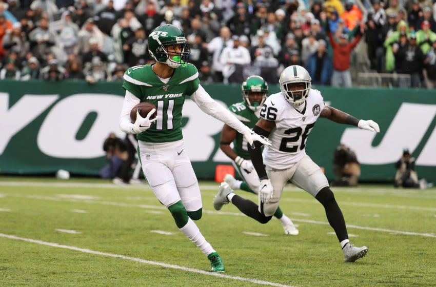 EAST RUTHERFORD, NEW JERSEY - NOVEMBER 24: Robby Anderson #11 of the New York Jets in action against the Oakland Raiders during their game at MetLife Stadium on November 24, 2019 in East Rutherford, New Jersey. (Photo by Al Bello/Getty Images)