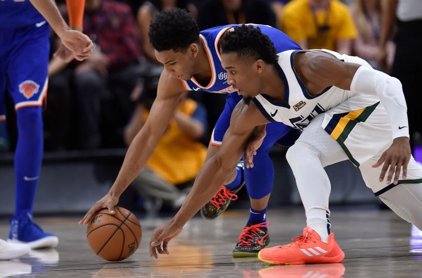 Allonzo Trier, New York Knicks. Donovan Mitchell, Utah Jazz. (Photo by Gene Sweeney Jr./Getty Images)