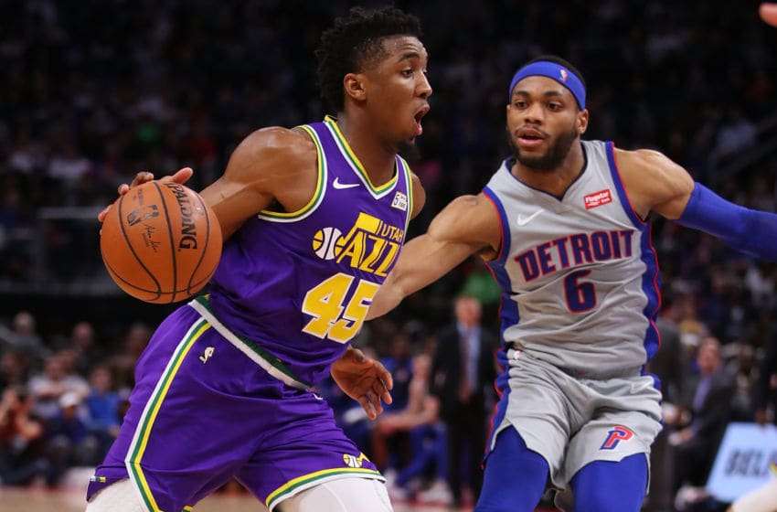 Donovan Mitchell, Utah Jazz. Bruce Brown, Detroit Pistons. (Photo by Gregory Shamus/Getty Images)