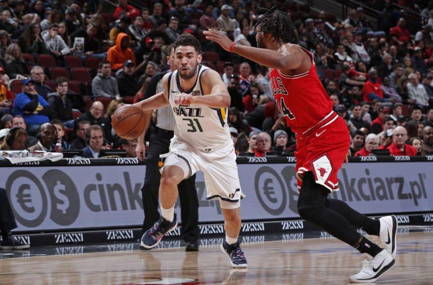 Georges Niang, Utah Jazz. Copyright 2019 NBAE (Photo by Jeff Haynes/NBAE via Getty Images)
