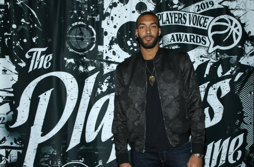 HOLLYWOOD, CALIFORNIA - JULY 09: Rudy Gobert attends the 2019 NBPA Players' Voice Awards at DREAM Hollywood on July 09, 2019 in Hollywood, California. (Photo by Phillip Faraone/Getty Images for National Basketball Players Association (NBPA))
