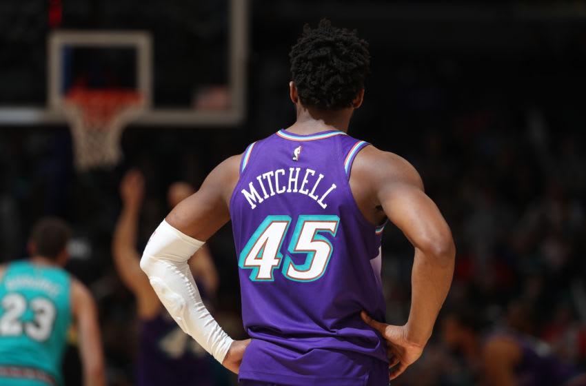 Donovan Mitchell, Utah Jazz. Copyright 2019 NBAE (Photo by Joe Murphy/NBAE via Getty Images)