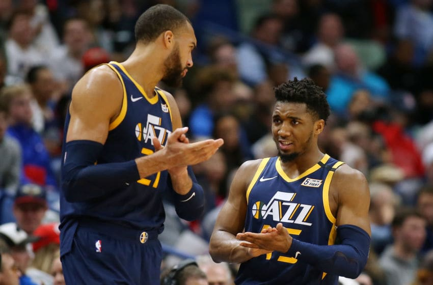 Rudy Gobert and Donovan Mitchell, Utah Jazz. (Photo by Jonathan Bachman/Getty Images)