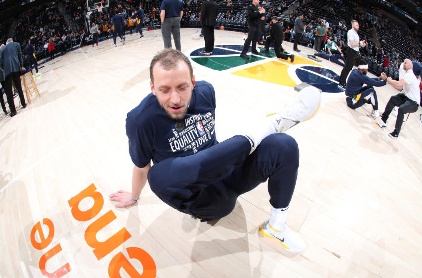 Joe Ingles, Utah Jazz. (Photo by Melissa Majchrzak/NBAE via Getty Images)