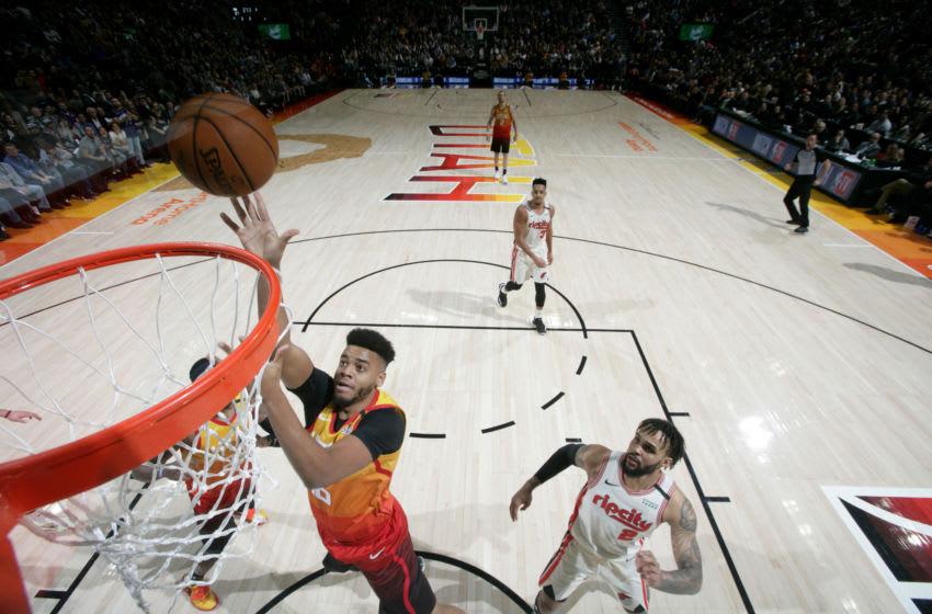 Juwan Morgan, Utah Jazz. (Photo by Melissa Majchrzak/NBAE via Getty Images)