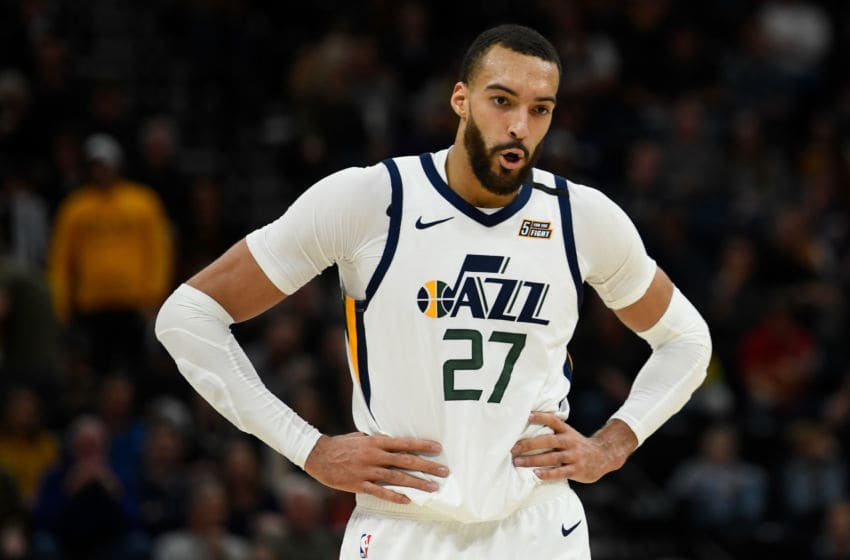 Rudy Gobert, Utah Jazz.(Photo by Alex Goodlett/Getty Images)