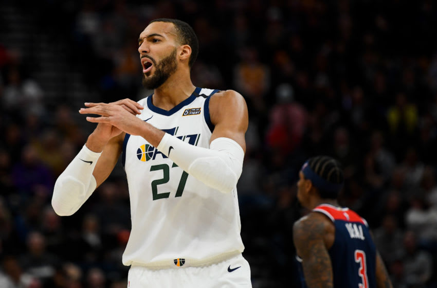 Rudy Gobert, Utah Jazz. (Photo by Alex Goodlett/Getty Images)