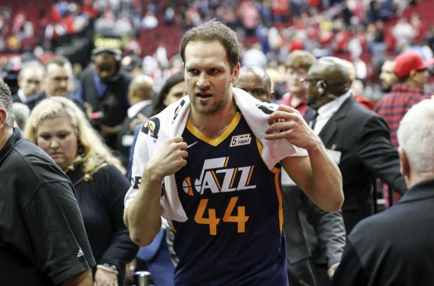 Bojan Bogdanović, Utah Jazz. (Photo by Tim Warner/Getty Images)